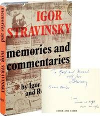 image of Memories and Commentaries (First UK Edition, signed by Stravinsky and Craft)