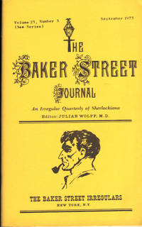 image of THE BAKER STREET JOURNAL ~ An Irregular Quarterly of Sherlockiana ~ September 1973
