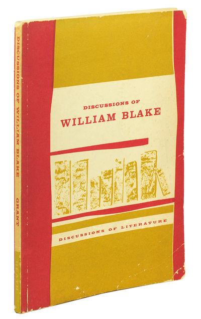 8vo. Boston: D.C. Heath and Company, 1961. 8vo, xi, 114pp. Printed wrappers. Light edgewear. 13 essa...