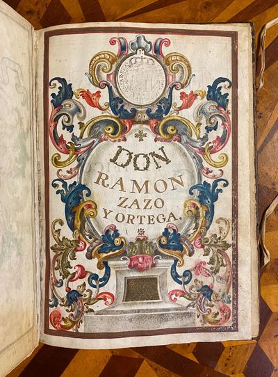 Madrid, 1769. Very good. 4to (12 x 8 1/2 inches). Manuscript on vellum. 18 fols. = 1 f. (illuminated...
