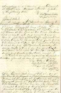 Proceedings of a Board of Survey Convened At Fort Craig, N. M. on 27th  August 1863 by Virtue of the Following Order (Military Manuscript from the  Civil War in New Mexico)