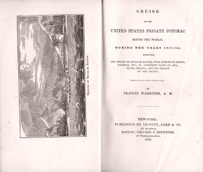 New York: Leavitt, Lord & Co., 1835. First edition of a book of interest in several respects. This w...