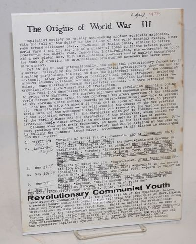 Berkeley: Revolutionary Communist Youth, 1972. 8.5x11 inch handbill, fold-creased and foxed. Announc...