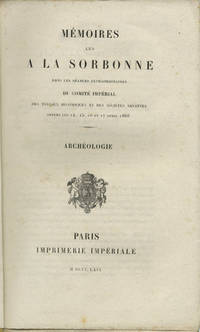 Paris: Imprimerie impériale, 1869. First edition. Paper wrappers. A very good unopened (uncut) copy...