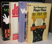 Kurt Vonnegut (grouping):  Player Piano; (with) The Sirens of Titan; (with) Jailbird; (with) Hocous Pocus; -(four soft covers by Kurt Vonnegut)-