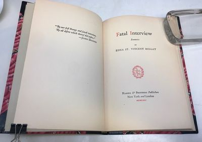 New York: Harper, 1931. First. hardcover. fine. xii, 52 pages. Slim 8vo, handsomely rebound in half ...