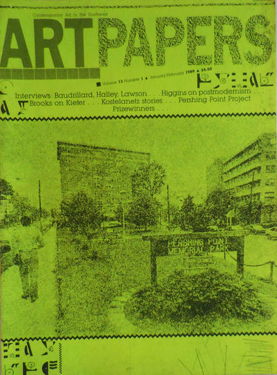 Atlanta: Art Papers, 1989. First edition. Paperback. Very Good. Overly tall (over 13