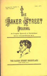 image of THE BAKER STREET JOURNAL ~ An Irregular Quarterly of Sherlockiana ~ June 1973