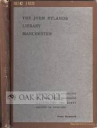 London: Manchester University Press, 1907. later cloth with original paper wrappers laid down on cov...