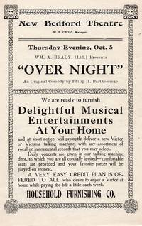 image of 1911 New Bedford Theater Souvenir Program for over Night