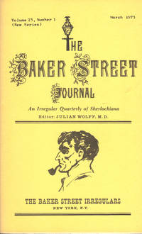 image of THE BAKER STREET JOURNAL ~ An Irregular Quarterly of Sherlockiana ~ March 1973