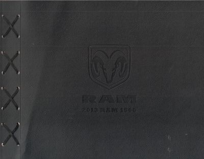 Chrysler Group LLC.. Very Good. 2013. First Edition. Softcover. Black leather bound flaps held toget...