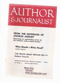 image of Author and Journalist, March 1959 (includes:  What Should a Writer Read? By August Derleth; The Literary Notebook of Charles Angoff; Don'ts for Crime Stories, etc )
