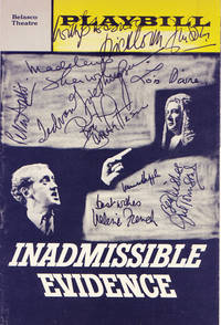 Inadmissible Evidence Playbill Signed By the Entire Cast