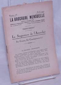 image of La Stagnation de l'Anarchie: Ses Causes, Ses Conséquences (1)