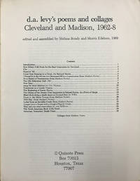 d.a. levy's poems and collages: Cleveland and Madison, 1962–8