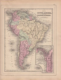 Map of South America, Showing Its Political Divisions [with inset] Map Showing the Proposed Atrato-Inter-Oceanic Canal Routes for Connecting the Atlantic and Pacific Oceans