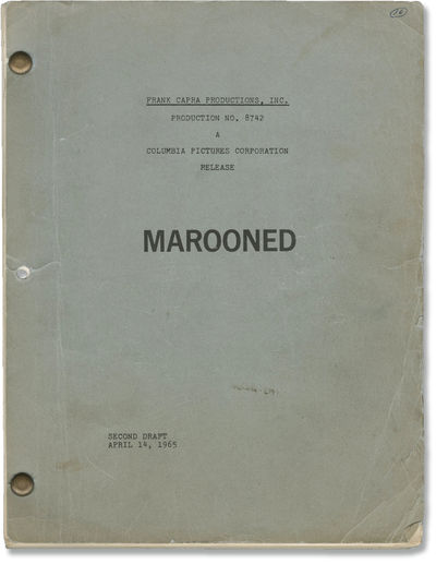 N.p.: Frank Capra Productions, Inc, 1965. Second Draft script for an unproduced film by screenwriter...