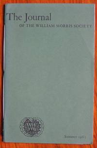 image of The Journal of the William Morris Society Volume I Number 3 Spring 1963