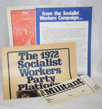 [Campaign mailer with original envelope, 8.5x11 inches, three pieces - mimeo 2p. letter, tabliod campaign platform and poster / invitation to the YSA national convention]