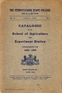 image of CATALOGUE OF THE SCHOOL OF AGRICULTURE AND EXPERIMENT STATION