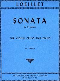 Sonata in B Minor - for Violin, Cello, and Piano [TWO STRING PARTS plus PIANO FULL SCORE]