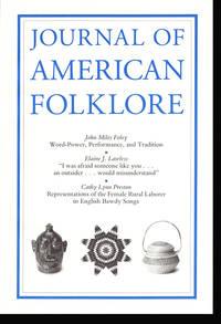 Journal of American Folklore (Vol 105, No 417, Summer 1992)