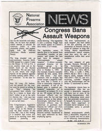 NATIONAL FIREARMS ASSOCIATION (NFA) NEWS, SUMMER 1994 by  Ron; et.al Cagle - Paperback - 1994 - from Sunset Books and Biblio.com