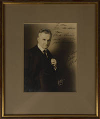 Half-length studio portrait photograph, inscribed and signed in full, dated October 1926