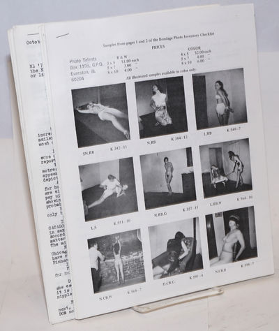 Evanston, IL: Photo Talents, 1976. Thirteen issues, 3 to 4 8.5x11 inch sheets printed both sides sta...