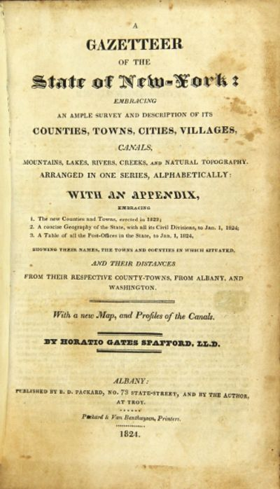 Albany: B. D. Packard; Troy: the author, 1824. 8vo, pp. 620; text in double column, folding frontisp...
