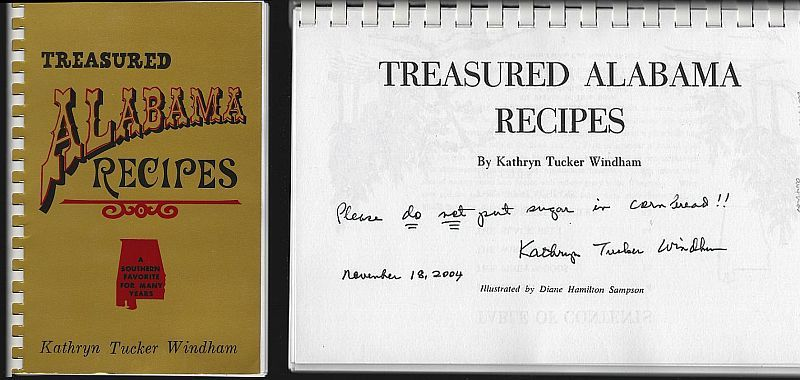 TREASURED ALABAMA RECIPES A Southern Favorite for Many Years, Windham, Kathryn Tucker