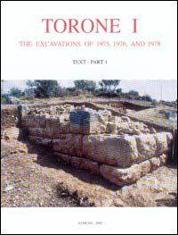 Torone I — The Excavations of 1975, 1976, and 1978, 3 VOLS.