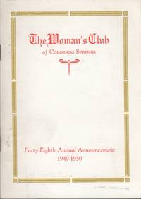 image of The Woman's Club of Colorado Springs Forty-Eighth Annual Announcement 1949-1950