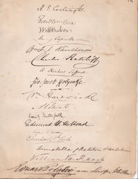 image of 23 AUTOGRAPHS of apparent attendees at a meeting. The meeting was possibly that of the NATIONAL ASSOCIATION FOR THE PROMOTION OF SOCIAL SCIENCE.