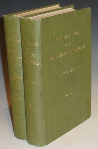 Amsterdam: A. De Lange, 1914. First Edition. Octavo. In two volumes. 386, 434pp. Index. folding char...