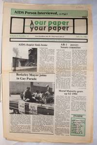 image of Our Paper, Your Paper; the gay family paper of the Santa Clara Valley; vol. 2, #14, July 13, 1983