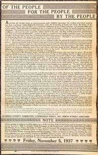 image of Of the people, for the people, by the people [broadside]