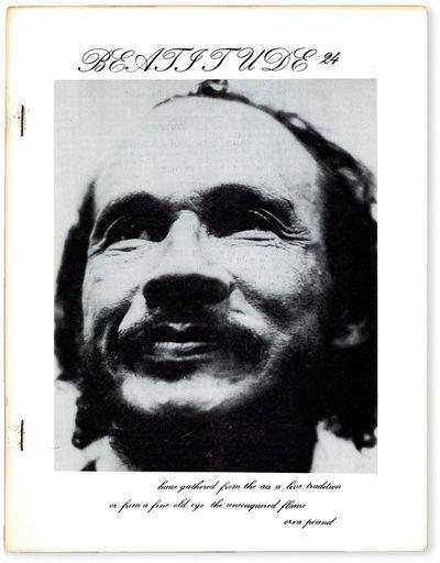 San Francisco: Beatitude, 1976. First Edition. Quarto (28cm); mimeographed sheets, saddle-stitched i...