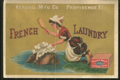 Image for VICTORIAN TRADE CARD FOR FRENCH LAUNDRY SOAP