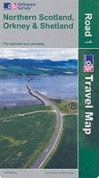 image of Northern Scotland, Orkney and Shetland (Road Map)