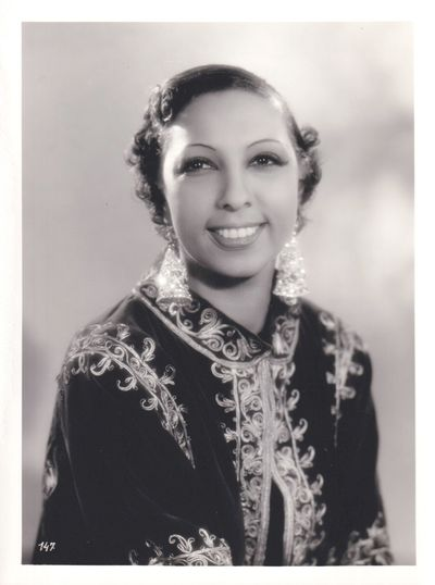 Paris: Arys, 1935. Vintage reference photograph of Josephine Baker from the 1935 French film. With a...