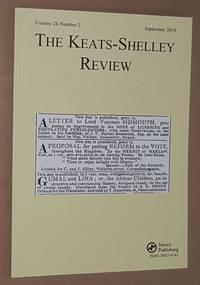 The Keats-Shelley Review. Vol.28 No.2, September 2014