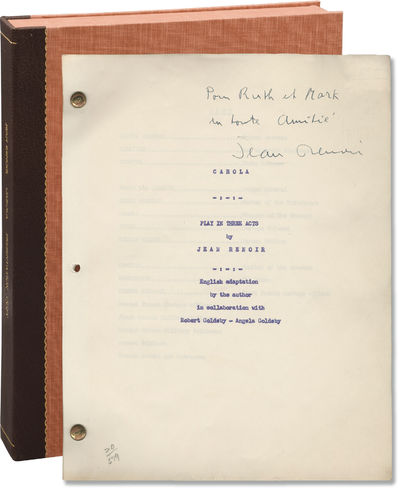 N.p.: N.p., 1960. Draft script for an unproduced English adaptation of Jean Renoir's 1960 play. Pres...