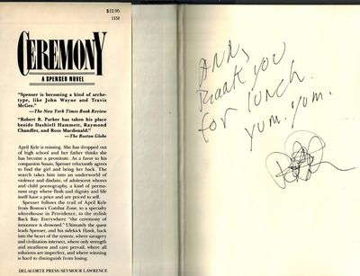 New York: Delacorte Press /S. Lawrence, 1982. SIGNED AND INSCRIBED BY AUTHOR on front end page -