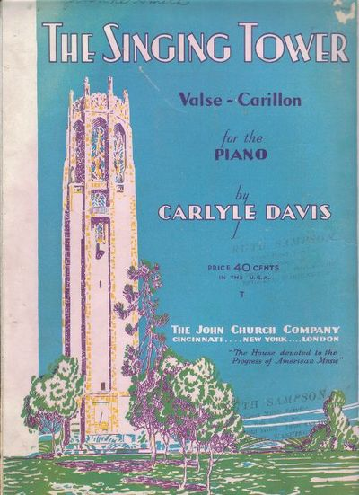 The Singing Tower (Valse - Carillon) by Carlyle Davis - Paperback - 1939 -  from Worldwide Collectibles and Biblio com
