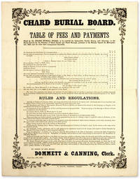 Table of Fees and Payments Fixed by the Chard Burial Board, To be..