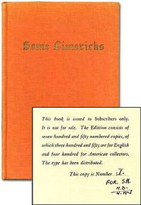 Some Limericks: Collected for the use of Students, & ensplendour'd with Introduction, Geographical Index, and with Notes Explanatory and Critical