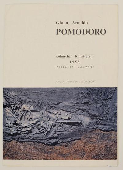 Kolnischer Kunstverein, 1958. First edition. Exhibition brochure for this Italian sculptor. Single s...
