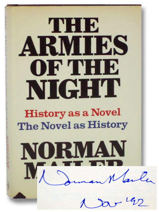 "Image result for Norman Mailer ""Armies of the Night."""